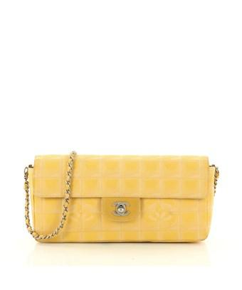 5380556f8c65 Chanel Pre-Owned: Travel Line Flap Bag Quilted Nylon East West In ...