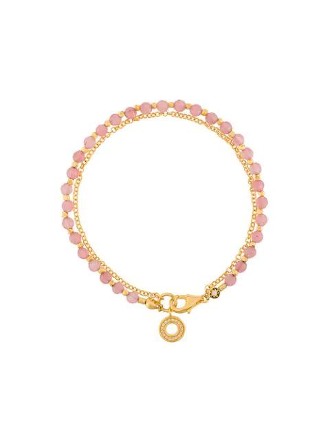 Astley Clarke Mini Halo Biography Bracelet In Pink