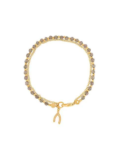 Astley Clarke Wishbone Biography Bracelet In Grey
