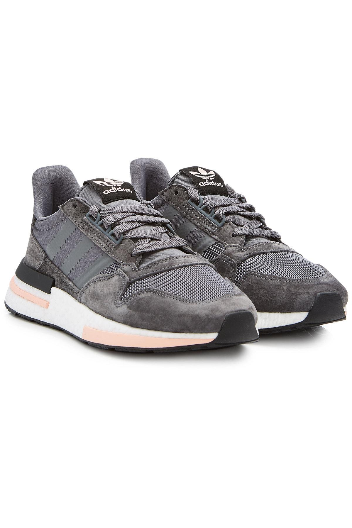 9549acfa7 Adidas Originals Zx 500 Rm Sneakers With Suede In Grey