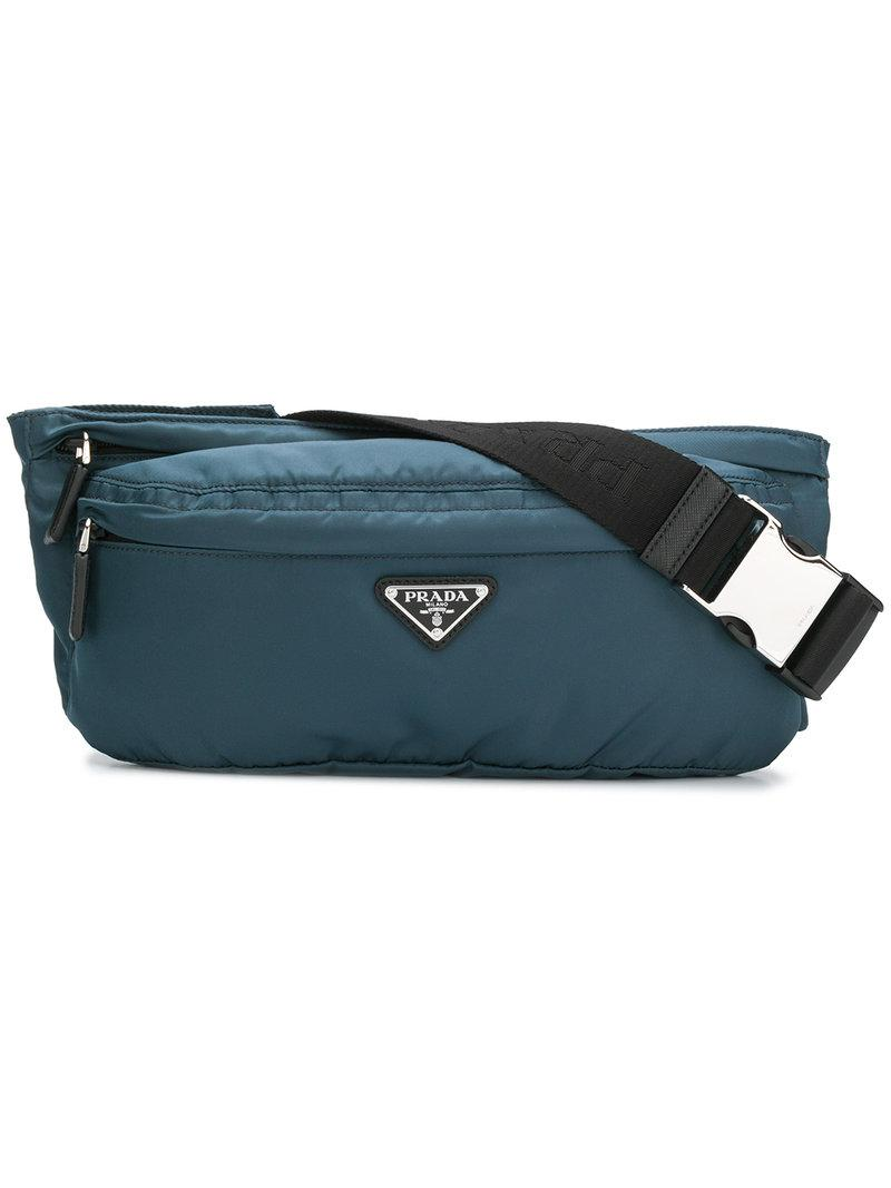 bf9dbd1b6c57a5 Prada Shell Belt Bag - Blue   ModeSens