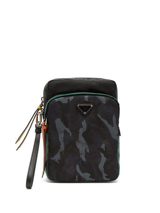 ced2c67df4c8 Prada - Logo Plaque Nylon Camera Bag - Mens - Blue Multi | ModeSens
