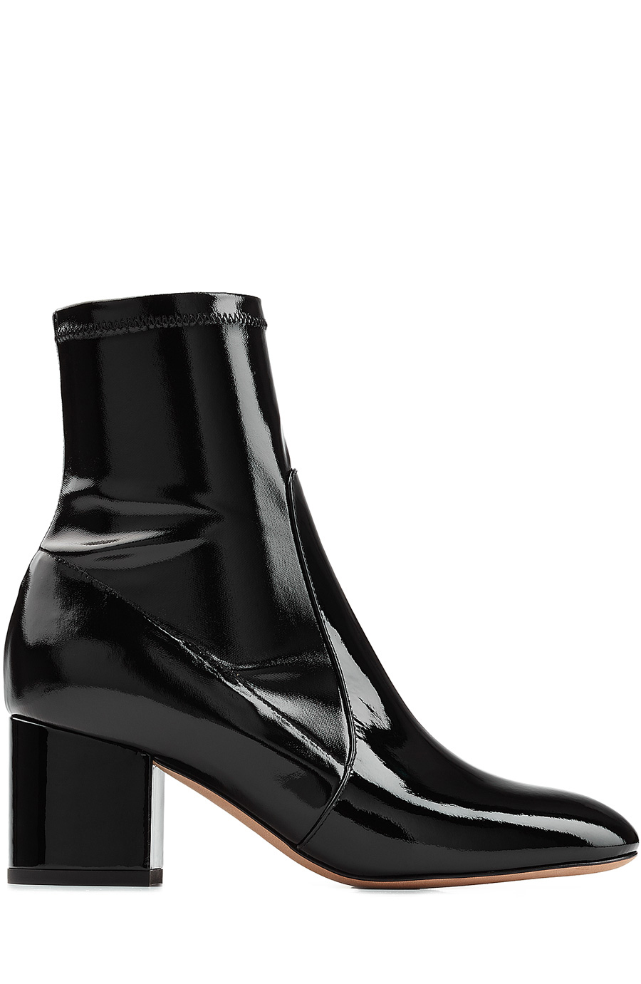 4f30a931109 Valentino Patent Leather Ankle Boots In Nero | ModeSens