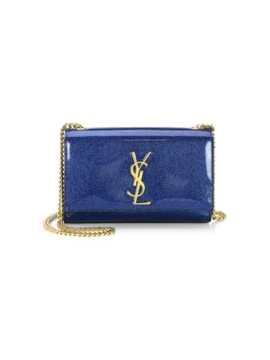 60db1db1f3d Saint Laurent Kate Monogram Ysl Small Glitter Patent Crossbody Bag In Black  Multi