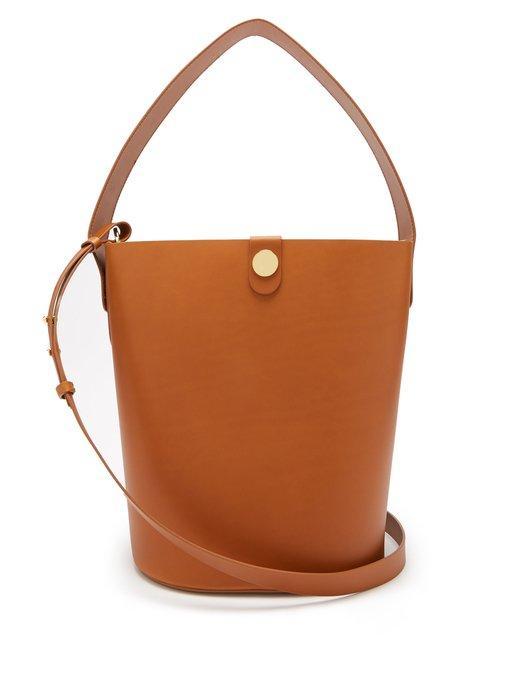 Sophie Hulme Large Swing Leather Bucket Bag In Tan