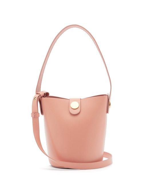 217553b8a64 Sophie Hulme - Nano Swing Leather Bucket Bag - Womens - Light Pink ...