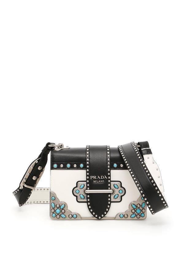 4a4d145fa18d Prada Cahier Folk Crossbody Bag In White