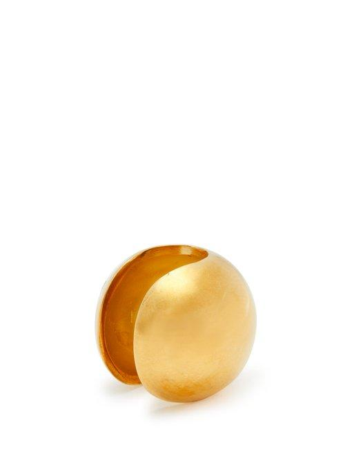 a8b122c783cf96 Alan Crocetti - Sphere Gold Plated Sterling Silver Ear Cuff - Mens - Gold