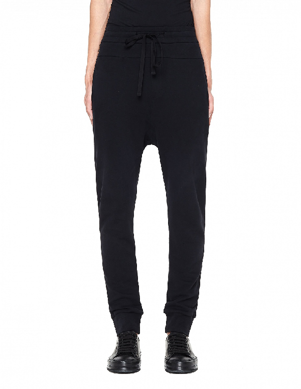 Ann Demeulemeester Cotton Trousers In Black