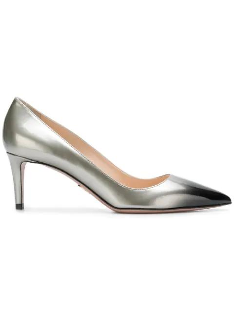 Prada Pointed Toe Pumps - Grey