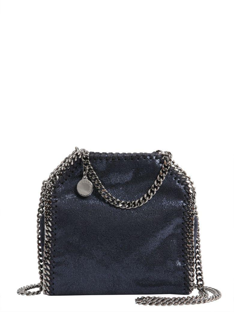 Stella Mccartney Falabella Tiny Crossbody Bag In Blu