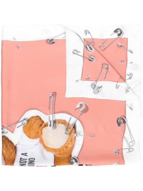 Moschino Teddy Bear Print Scarf - Pink