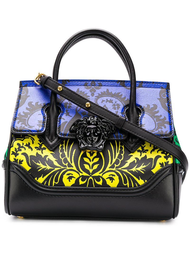 6b36601c62d0 Versace Contrast Barocco Print Palazzo Empire Bag In Black