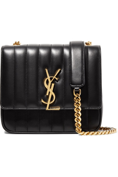 ac79d02af Saint Laurent Medium Vicky MatelassÉ Leather Shoulder Bag In Black ...
