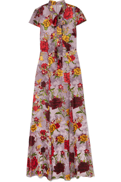 3c2b2de30af9 Alice And Olivia Roanne Floral-Print DevorÉ-Chiffon Maxi Dress In Lavender
