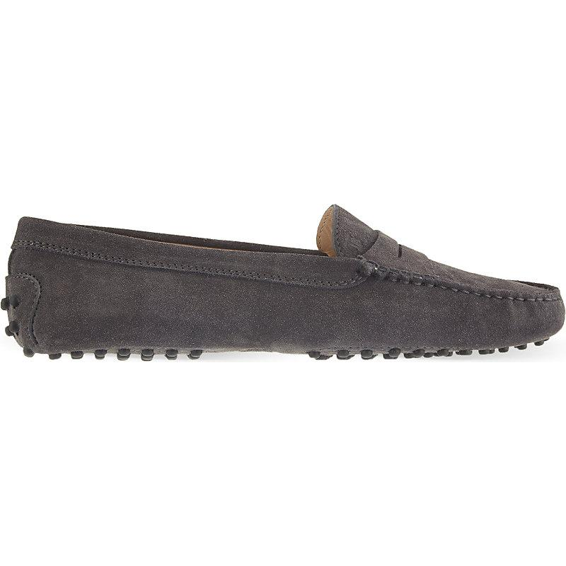 c0fed598cf0 Tod s Mocassino Suede Loafers In Grey Mid