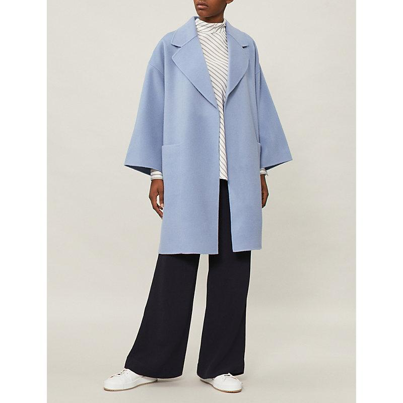 Theory Wool And Cashmere-Blend Coat In Grape Mist