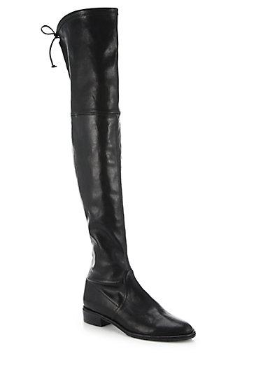 Stuart Weitzman Lowland Leather Over-The-Knee Boot In Pan