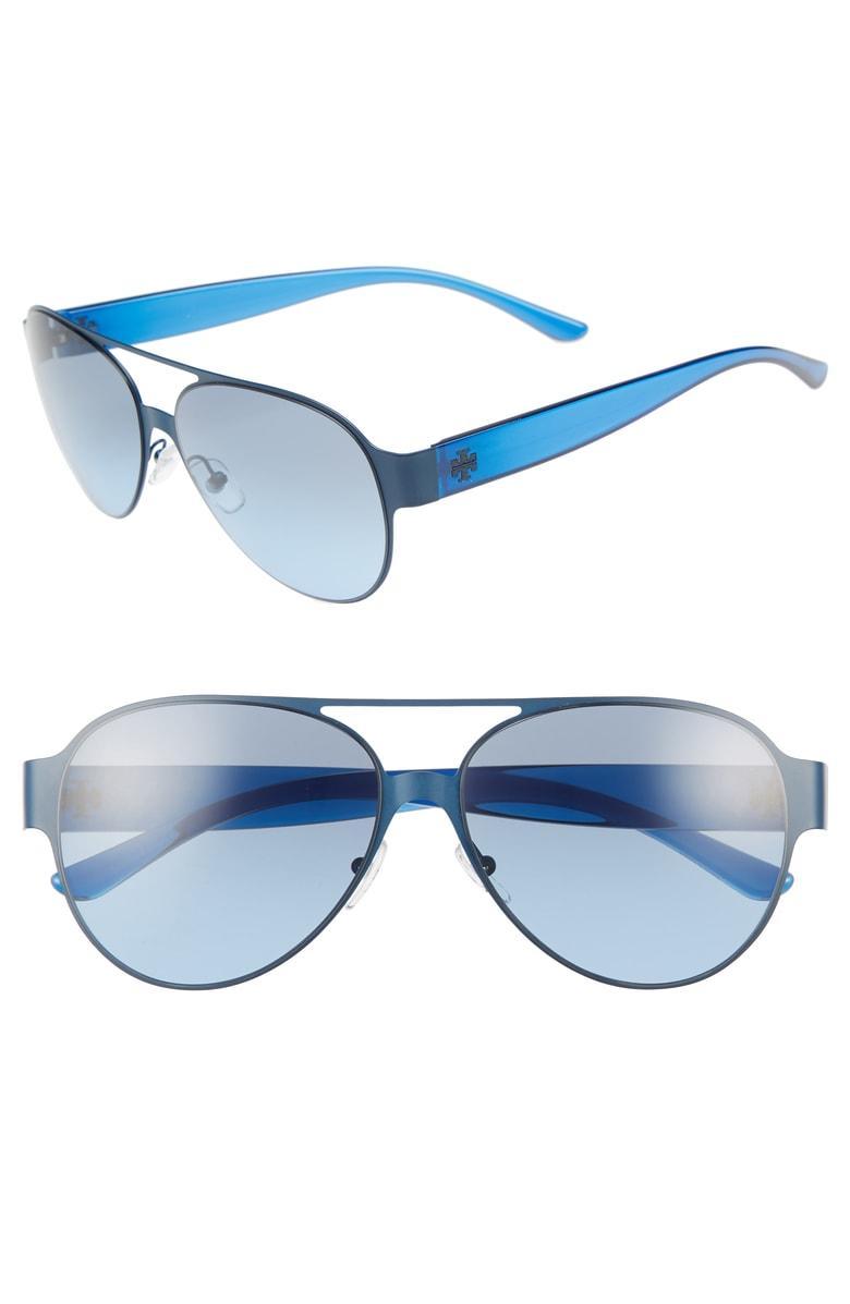 110a7796d24b0 Tory Burch 58Mm Polarized Aviator Sunglasses - Navy Gradient. Nordstrom