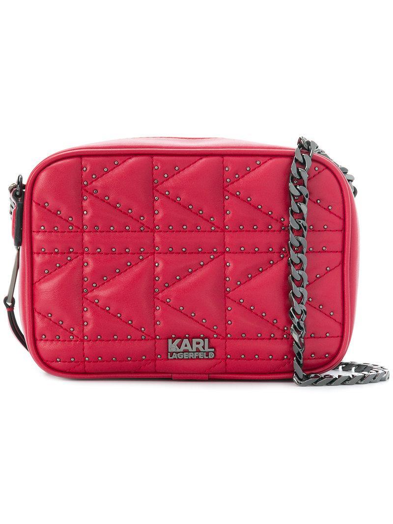 779fc7d776741 Karl Lagerfeld K Klassik Pins Tote Bag - Red