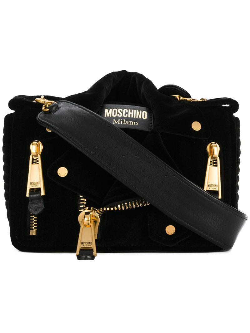 df20afdfd44 Moschino Small Biker Shoulder Bag - Black   ModeSens