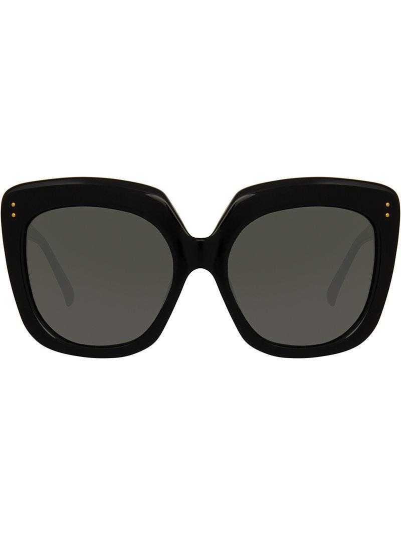633aa86d35 Linda Farrow 556 C1 Oversized Sunglasses In Black