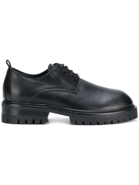 Ann Demeulemeester Leather Lace Up Shoes - Black