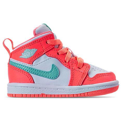 sale retailer c8b4a 43b7d Girls' Toddler Air Jordan 1 Mid Casual Shoes, Orange
