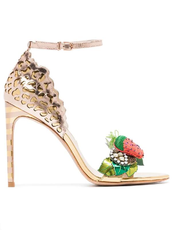 82a8db4e885 Sophia Webster Lilico Fruit Sandal In Metallic