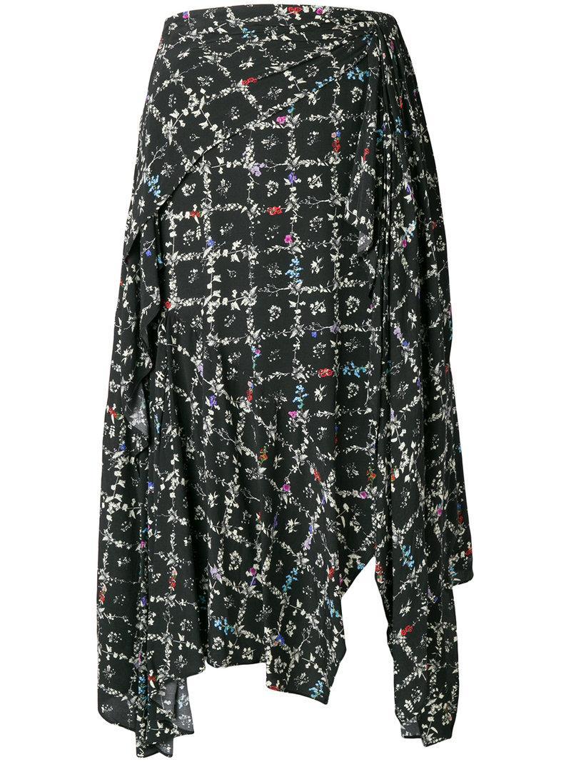 0b857e570 Preen Line Natasha Floral-Print Midi Skirt In Black | ModeSens