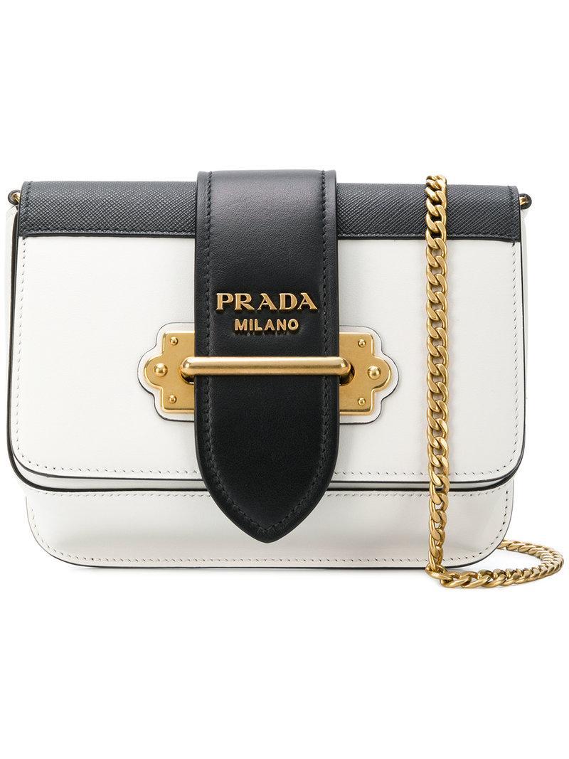 c6c7c4aa26 Prada Cahier Cross-Body Bag - Farfetch In White | ModeSens