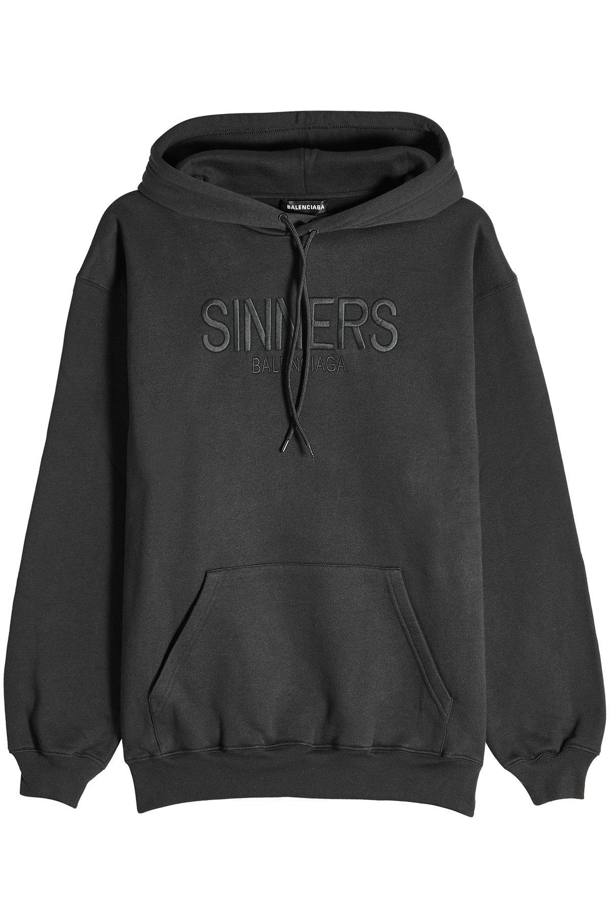 new photos attractive price uk cheap sale Sinners Cotton Hoody in Black