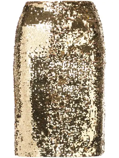 6d022ccd6 Alice And Olivia Ramos Sequin Pencil Skirt In Peacock   ModeSens