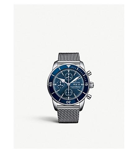 Breitling A13313161c1a1 Superocean Héritage Ii Steel Watch In Silver