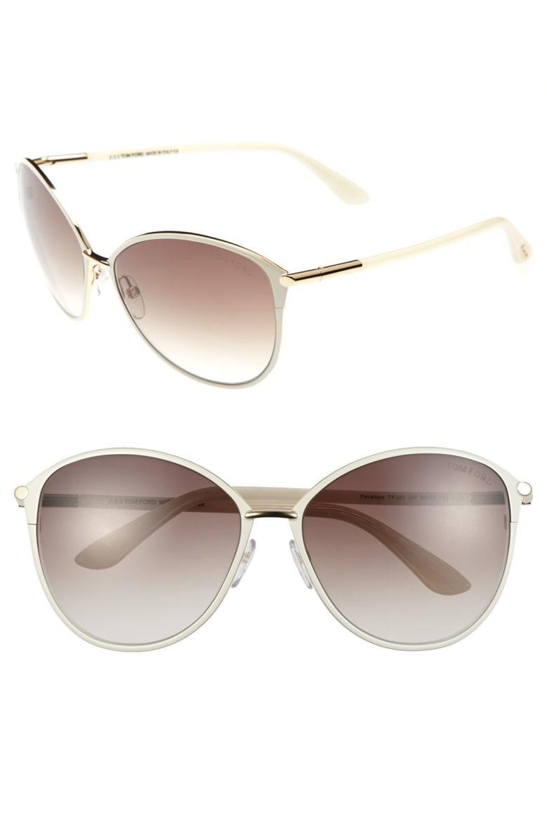 tom ford penelope 59mm gradient cat eye sunglasses shiny. Black Bedroom Furniture Sets. Home Design Ideas