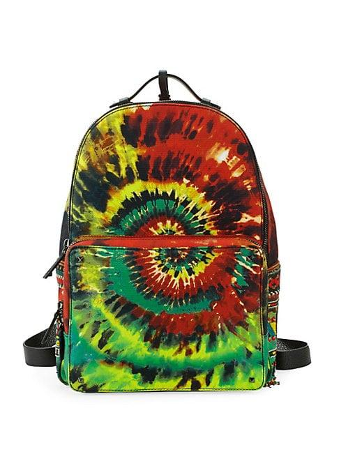 eb137a80b5 Valentino Tie-Dyed Zip Backpack In Multicolor | ModeSens