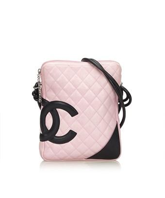 73b063ad9aa4 Chanel Pre-Owned: Cambon Ligne Crossbody Bag In Pink X Black | ModeSens