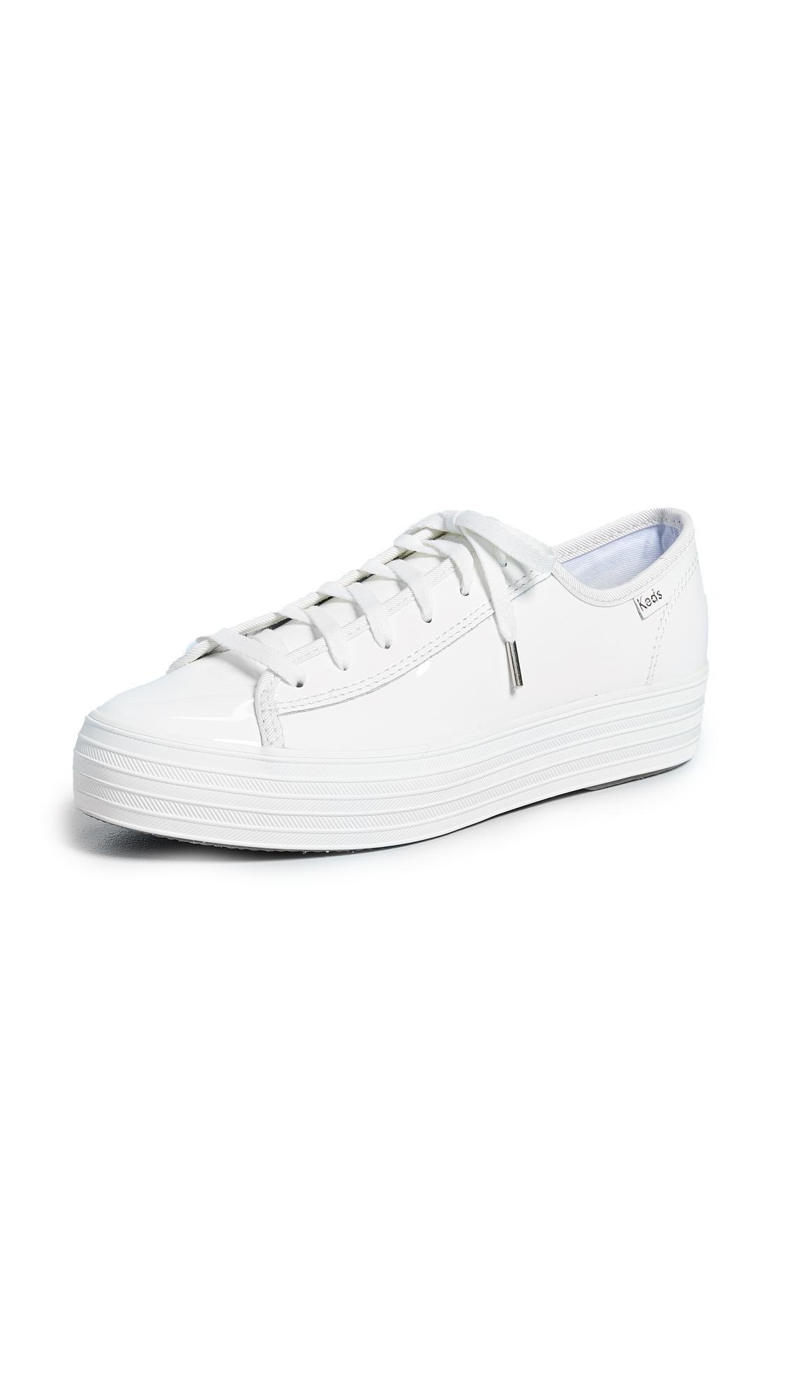 e23b377edbbf5 Keds Triple Kick Patent Sneakers In White