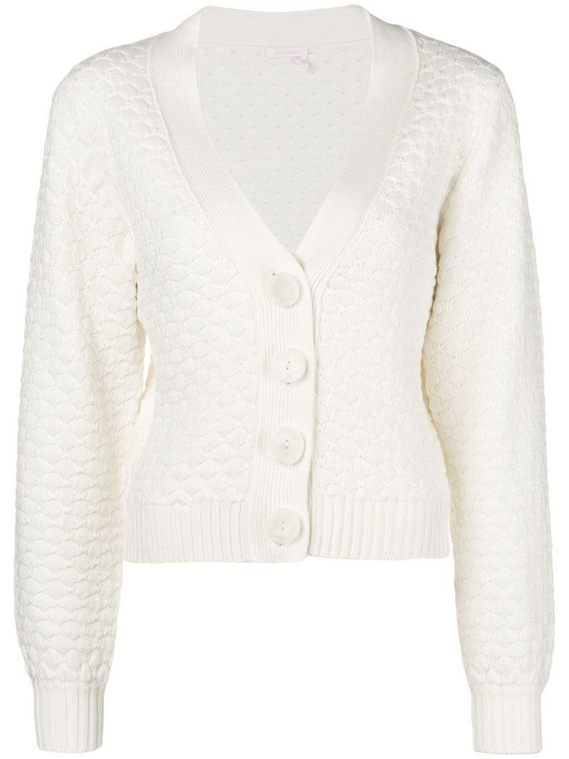 5f9e958d Textured Knit Cardigan in White