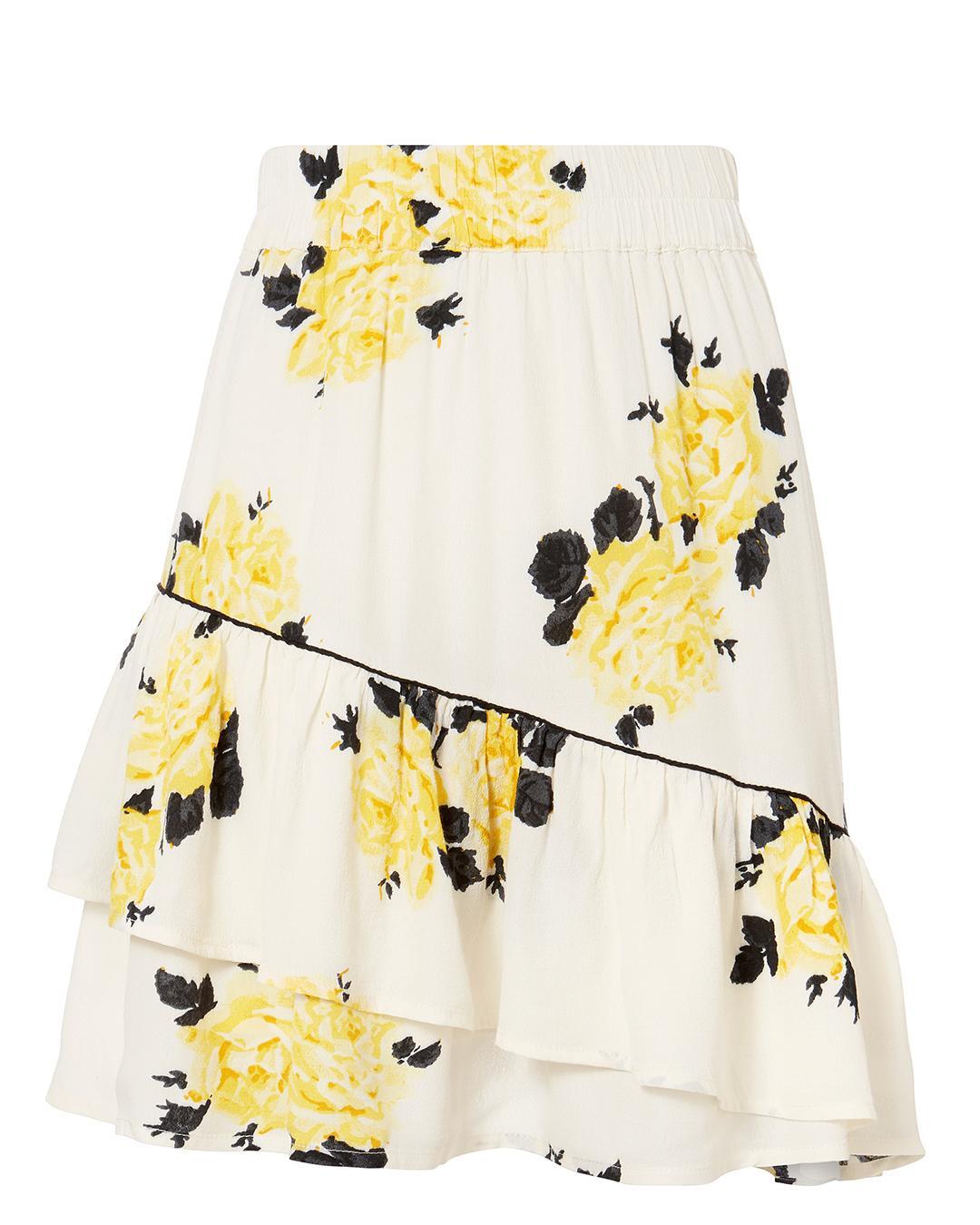 b736ee9f3 Ganni Silvery Crepe Mini Skirt In White | ModeSens