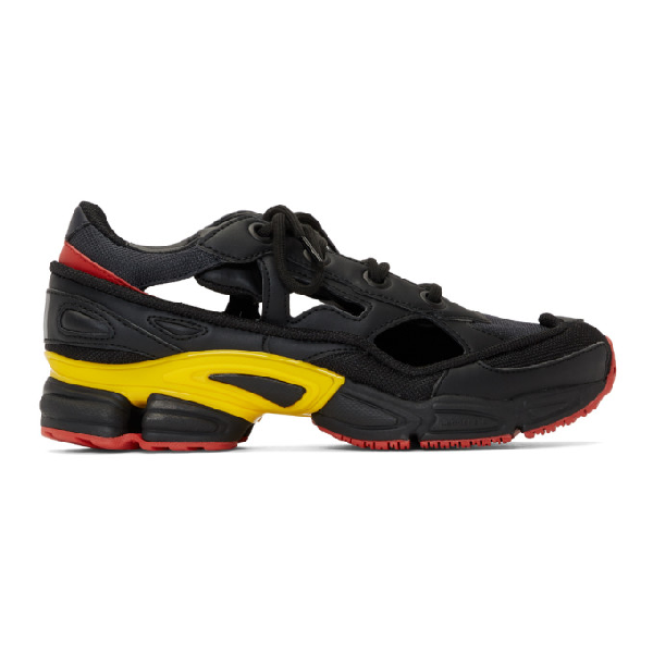 Raf Simons + Adidas Replicant Ozweego Sneakers - Black In Blk Gld Gry