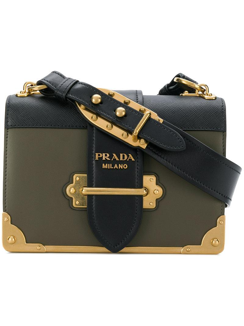 1a2db5c6827a Prada Cahier Shoulder Bag In Green