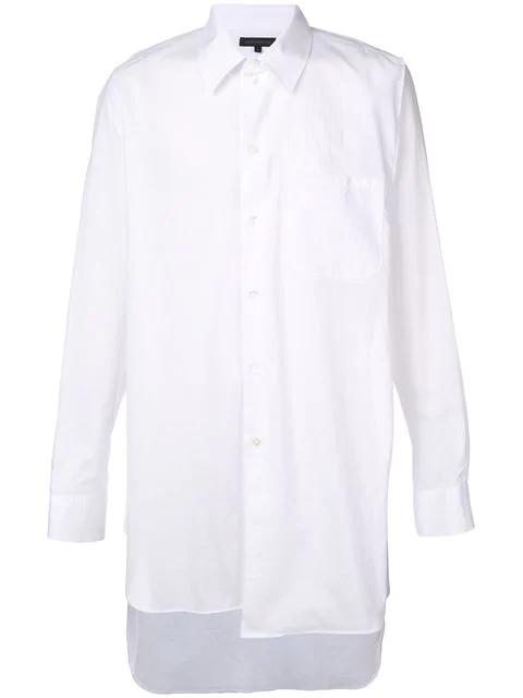 Ann Demeulemeester Asymmetric Longline Shirt - White