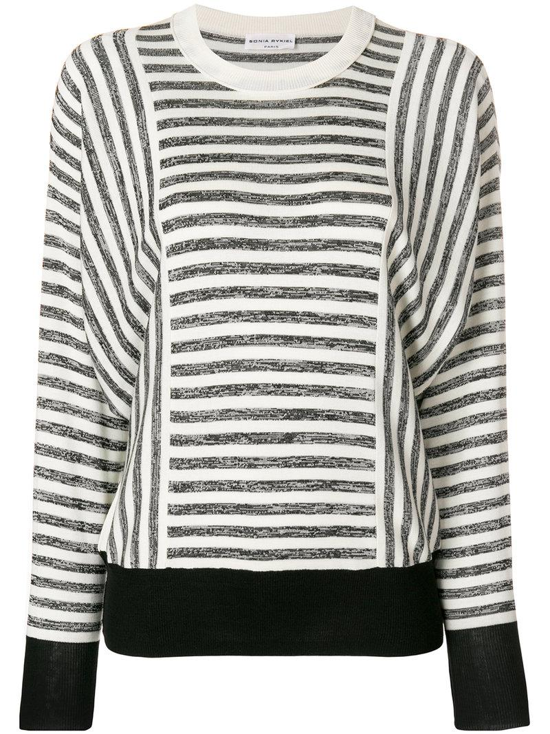 fb758ef228 Sonia Rykiel Striped Jersey Jumper - White | ModeSens
