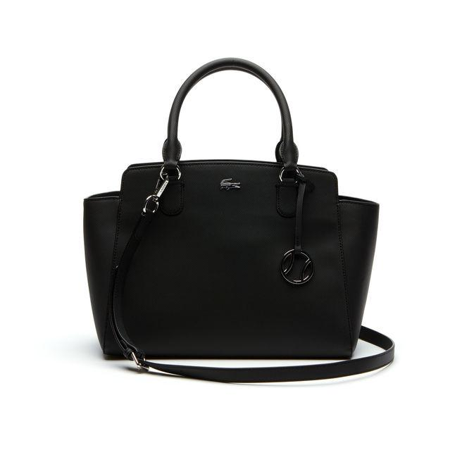 192d4e5555 Lacoste Women's Daily Classic Gusseted Coated PiquÉ Canvas Tote Bag In Black