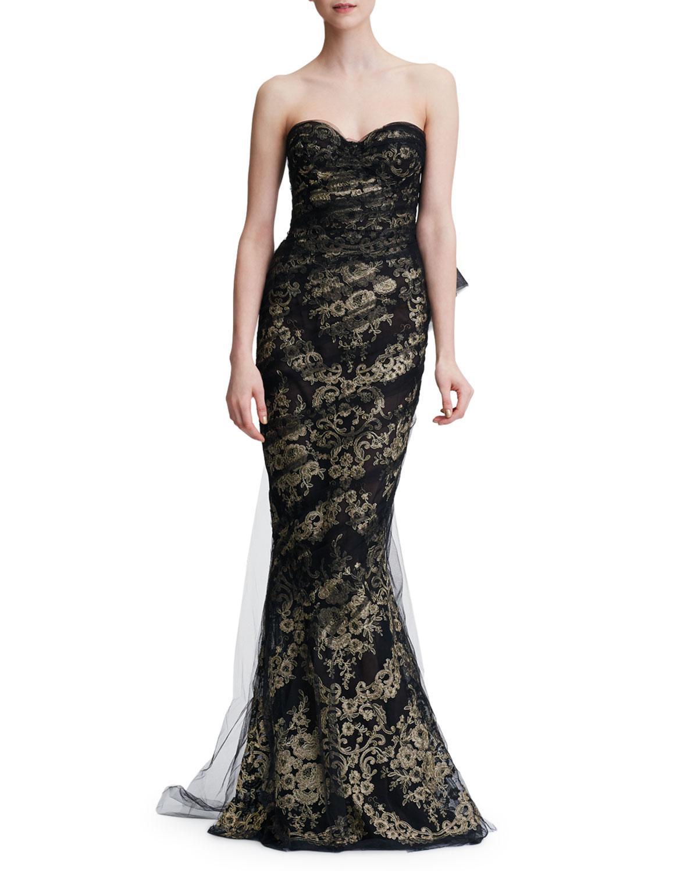 b8632b22 Black And Gold Mermaid Evening Dress | Saddha