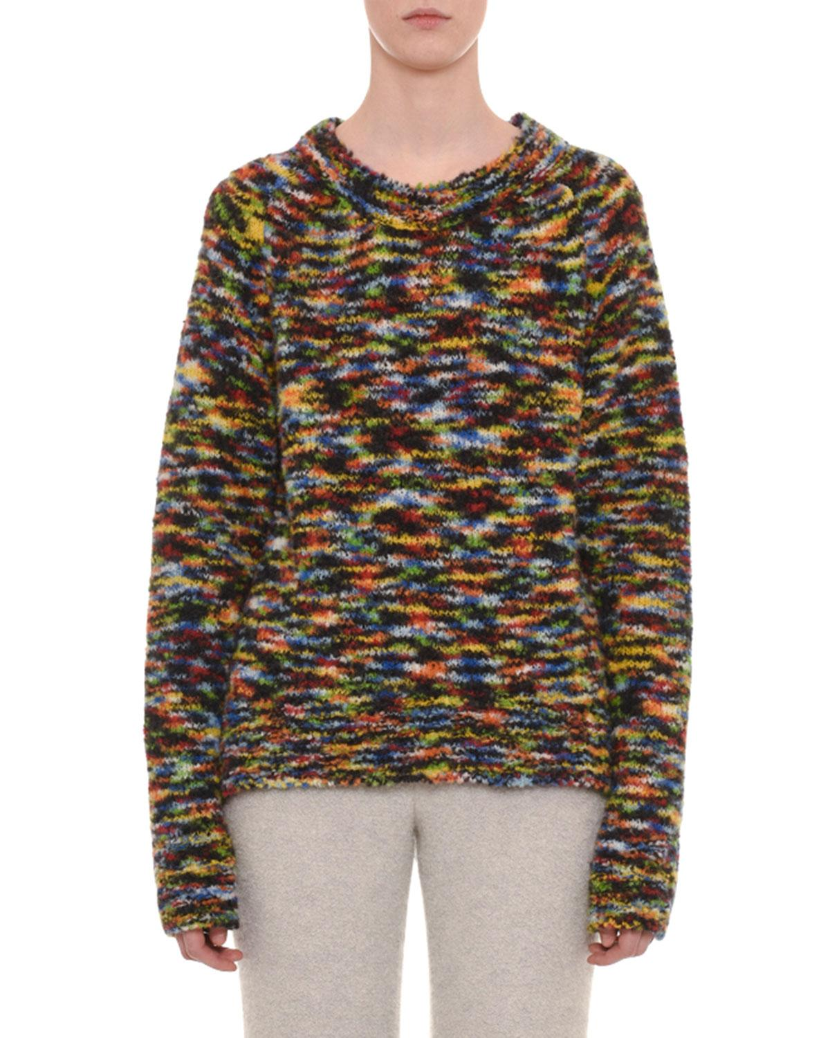 b73928ad47 Missoni Crewneck Long-Sleeve Wool-Blend Sweater In Multi