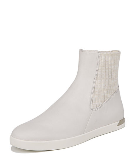 Vince Vidra Platform Leather Sneakers In White