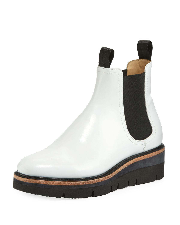 5fda3c56aad Rag   Bone Taryn Leather Chelsea Boots - White