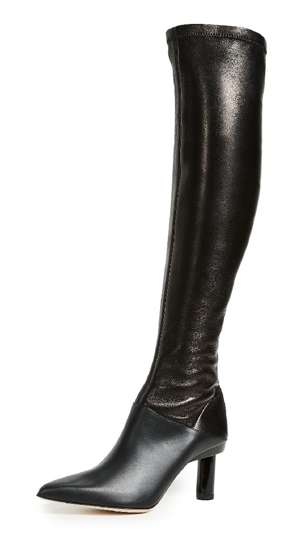 c88908b310d Caleb Leather Over-The-Knee Boot in Black